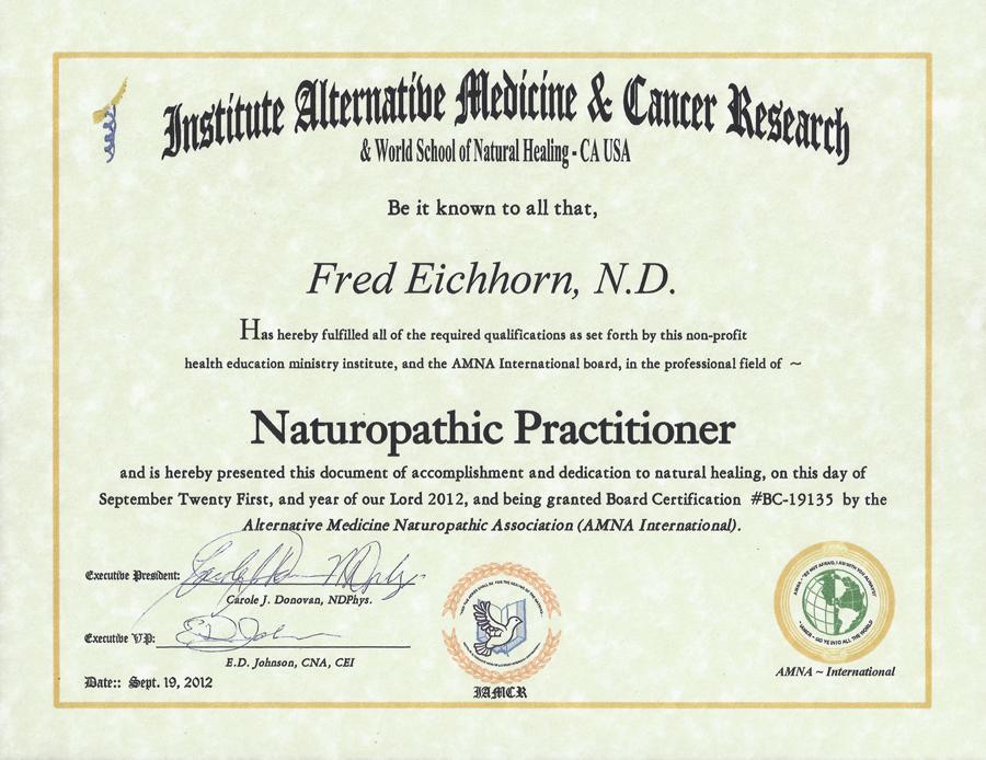 NCRF » Naturopathic Degree